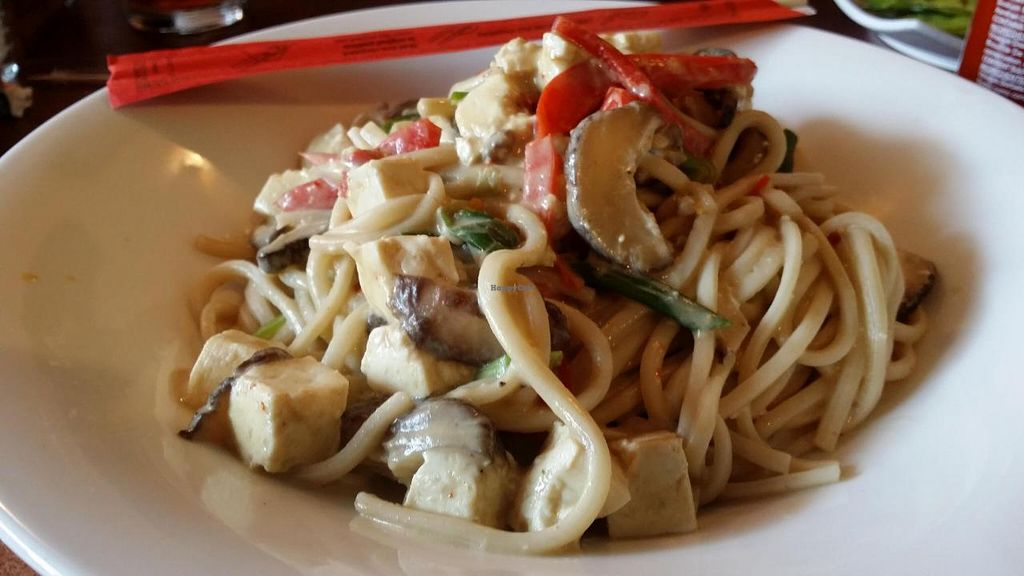 """Photo of Cafe Zazzle  by <a href=""""/members/profile/beepeewms"""">beepeewms</a> <br/>Green Coconut Curry noodles with tofu <br/> March 30, 2014  - <a href='/contact/abuse/image/40640/66747'>Report</a>"""