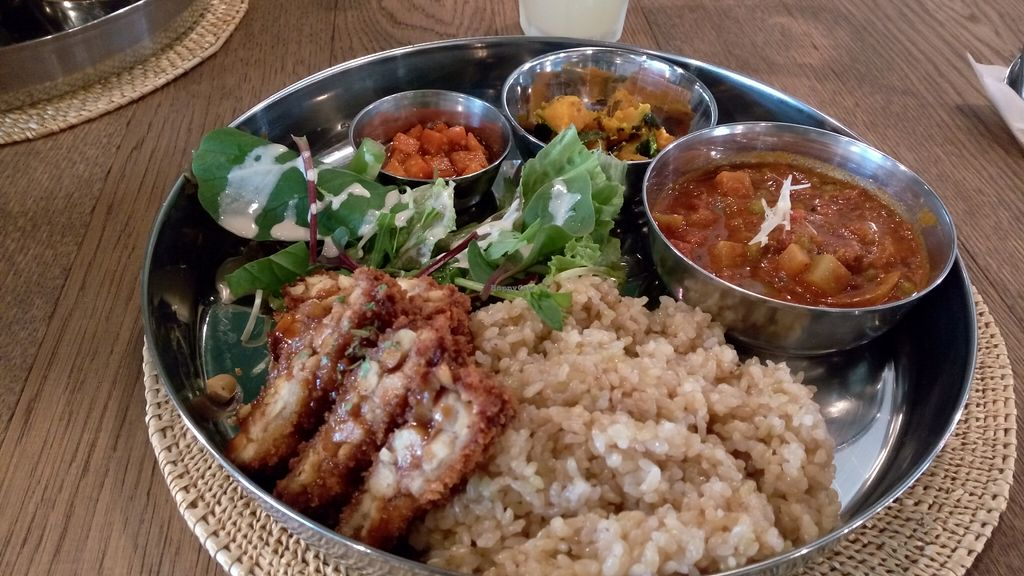 """Photo of Sasaya Cafe  by <a href=""""/members/profile/NinomaeJyuuichi"""">NinomaeJyuuichi</a> <br/>Indian curry with fried tempeh <br/> November 6, 2015  - <a href='/contact/abuse/image/40643/124099'>Report</a>"""