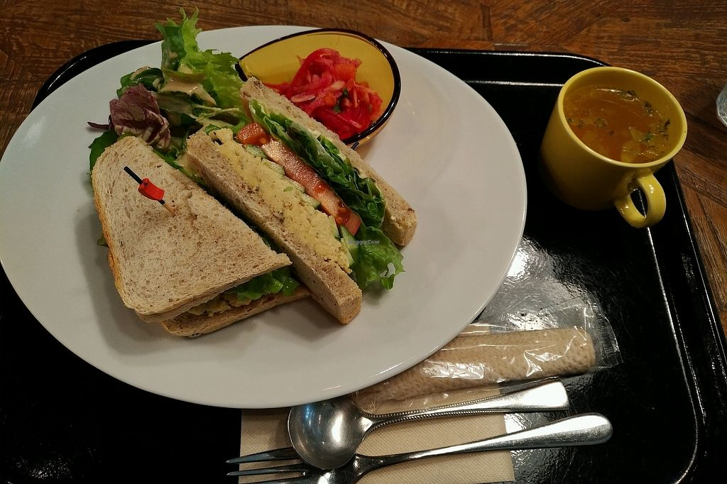 """Photo of Sasaya Cafe  by <a href=""""/members/profile/Ankika"""">Ankika</a> <br/>Hummus Sandwich  <br/> January 13, 2018  - <a href='/contact/abuse/image/40643/346130'>Report</a>"""