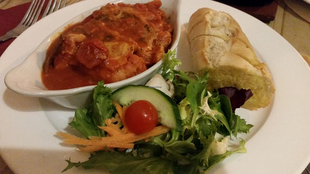 "Photo of Playwrights  by <a href=""/members/profile/konlish"">konlish</a> <br/>ROASTED Mediterranean Vegetable Lasagne, garlic bread and salad <br/> October 9, 2015  - <a href='/contact/abuse/image/40674/120752'>Report</a>"