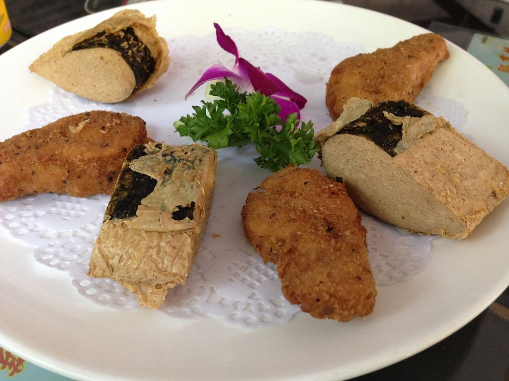 """Photo of Vegetarians Story Restaurant  by <a href=""""/members/profile/IraxMint"""">IraxMint</a> <br/>vegan fish and vegan chicken <br/> September 16, 2015  - <a href='/contact/abuse/image/40697/117972'>Report</a>"""
