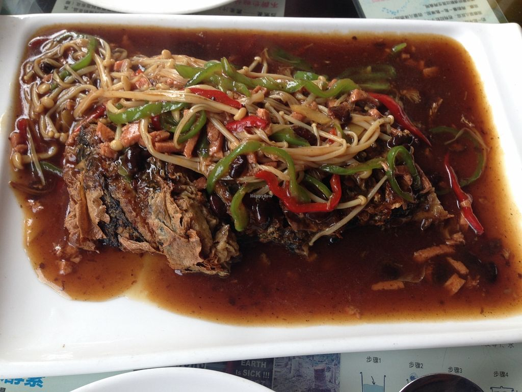 """Photo of Vegetarians Story Restaurant  by <a href=""""/members/profile/IraxMint"""">IraxMint</a> <br/>amazing whole vegan fish <br/> September 16, 2015  - <a href='/contact/abuse/image/40697/117973'>Report</a>"""