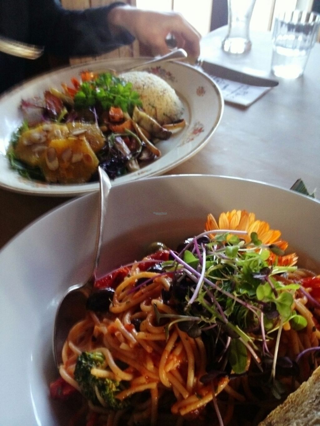 """Photo of Fleurs Place  by <a href=""""/members/profile/Fontalamh"""">Fontalamh</a> <br/>2 vegan dishes <br/> April 16, 2017  - <a href='/contact/abuse/image/40731/248600'>Report</a>"""