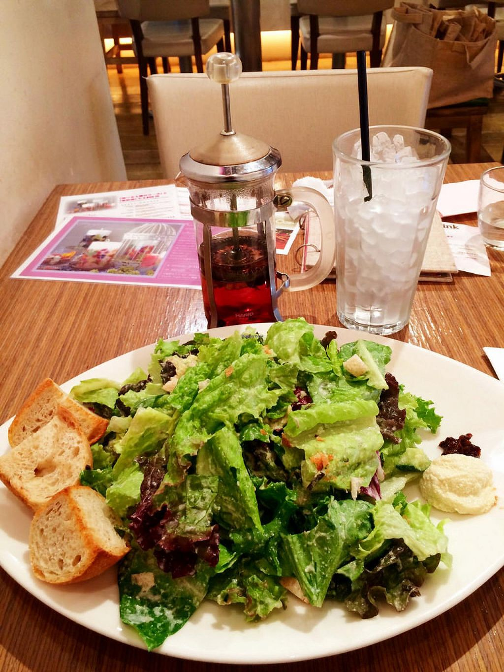 """Photo of Bio Cafe  by <a href=""""/members/profile/umebossy"""">umebossy</a> <br/>Vegan Cesar salad and herbal tea <br/> May 18, 2015  - <a href='/contact/abuse/image/40751/102654'>Report</a>"""