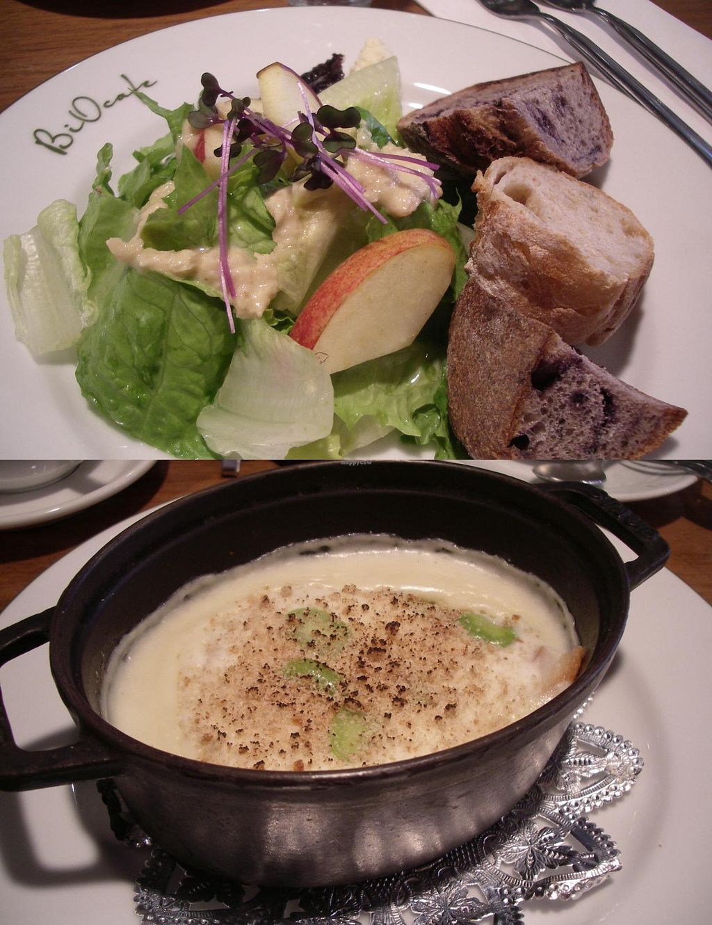 """Photo of Bio Cafe  by <a href=""""/members/profile/Ricardo"""">Ricardo</a> <br/>Lunch set: Gluten gratin 1400yen with drink (vegan) <br/> April 5, 2014  - <a href='/contact/abuse/image/40751/67068'>Report</a>"""