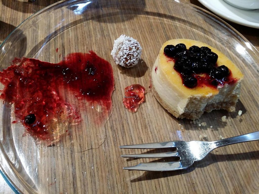"""Photo of Bio Cafe  by <a href=""""/members/profile/poopixie"""">poopixie</a> <br/>tofu cheesecake <br/> May 4, 2014  - <a href='/contact/abuse/image/40751/69320'>Report</a>"""