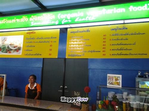 """Photo of CLOSED: 89 Organic Vegetarian Food  by <a href=""""/members/profile/LilacHippy"""">LilacHippy</a> <br/>This is the menu but I will post a copy of the English one for if you can't read Thai <br/> August 18, 2013  - <a href='/contact/abuse/image/40754/53447'>Report</a>"""