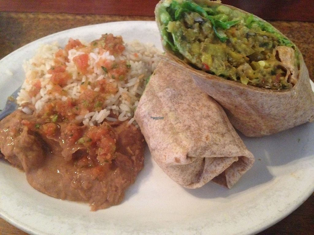 "Photo of Tequila Sunrise Mexican Grill  by <a href=""/members/profile/KarmaKiss"">KarmaKiss</a> <br/>Vegan Wrap  <br/> March 18, 2017  - <a href='/contact/abuse/image/40767/237759'>Report</a>"