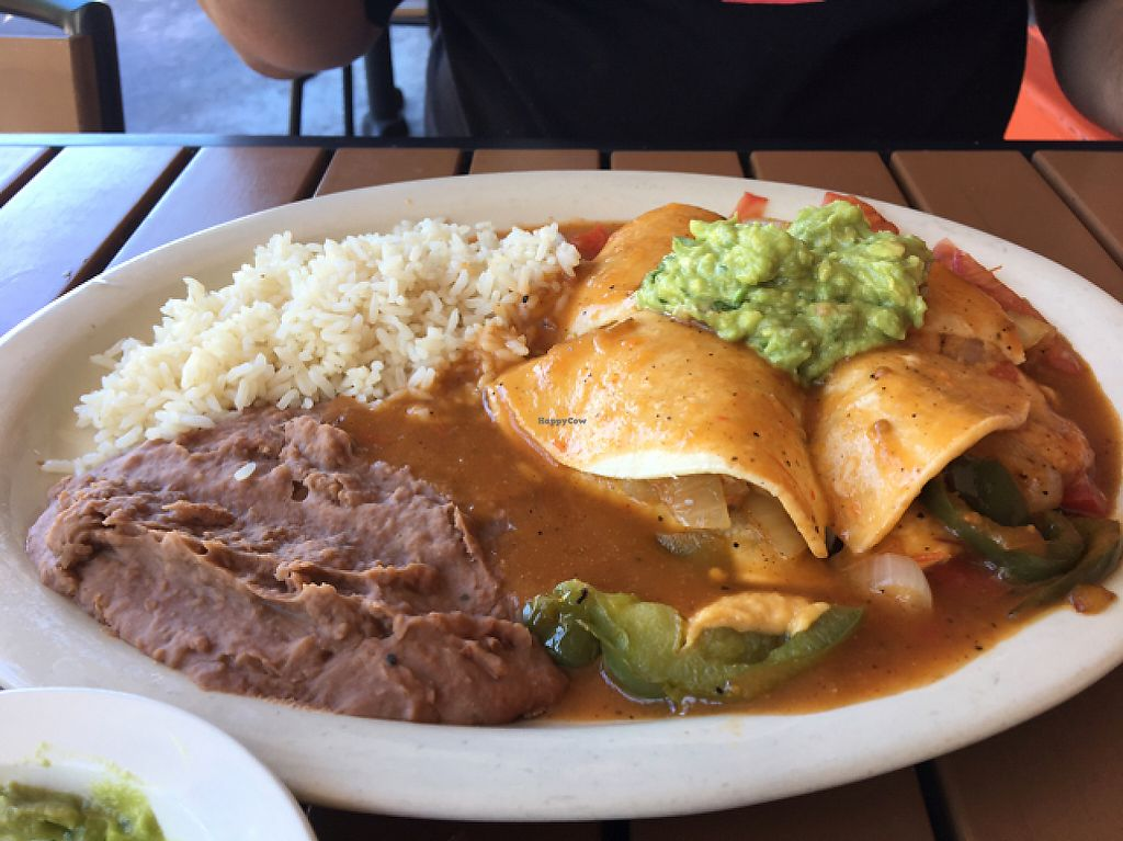 "Photo of Tequila Sunrise Mexican Grill  by <a href=""/members/profile/giant%20bunnie"">giant bunnie</a> <br/>enchilada! <br/> May 7, 2017  - <a href='/contact/abuse/image/40767/256869'>Report</a>"
