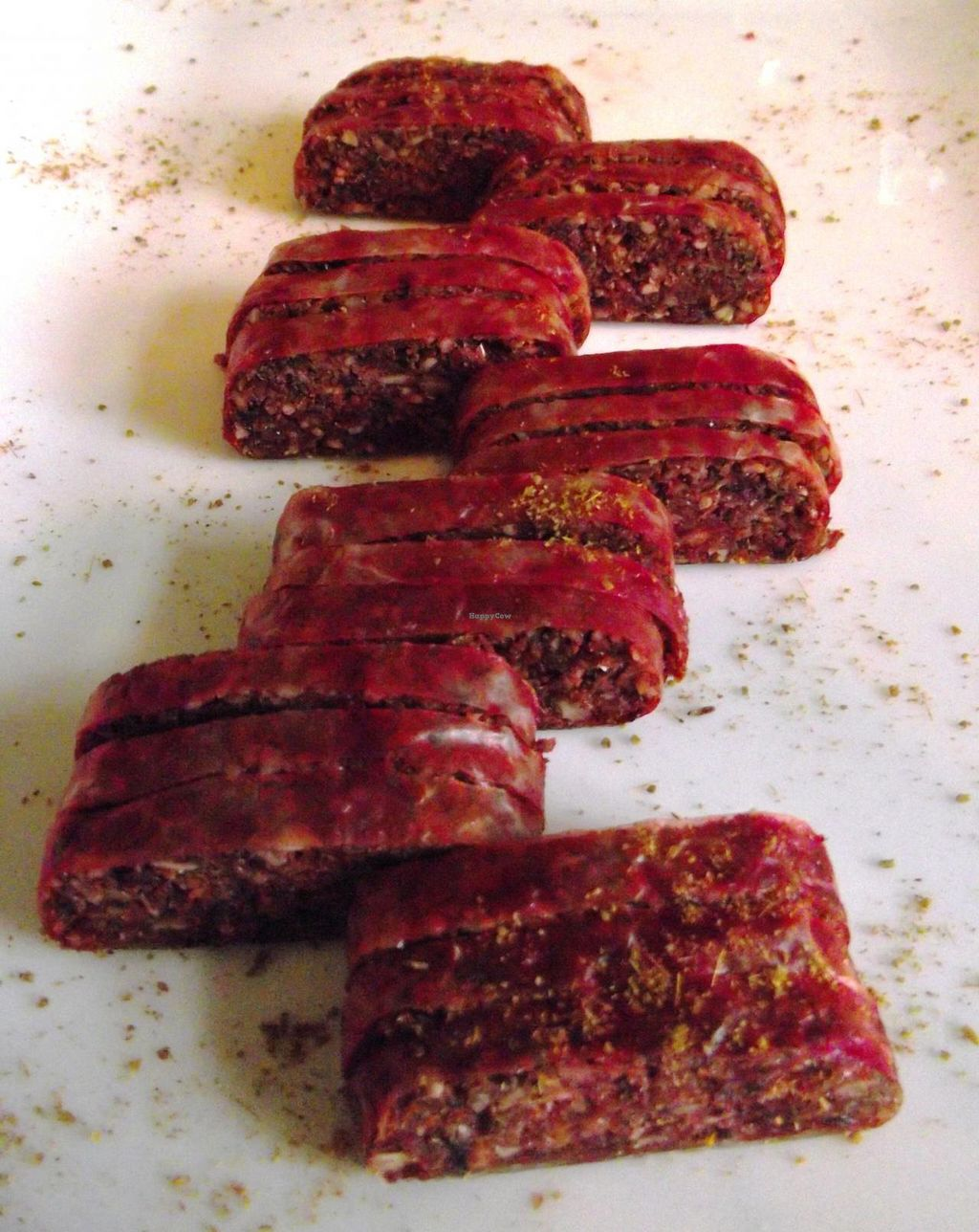 "Photo of Soul Kitchen  by <a href=""/members/profile/Joanna%20Karatsaneva"">Joanna Karatsaneva</a> <br/>Wine mezze - plant based dehydrated sausage  <br/> June 8, 2014  - <a href='/contact/abuse/image/40791/71629'>Report</a>"