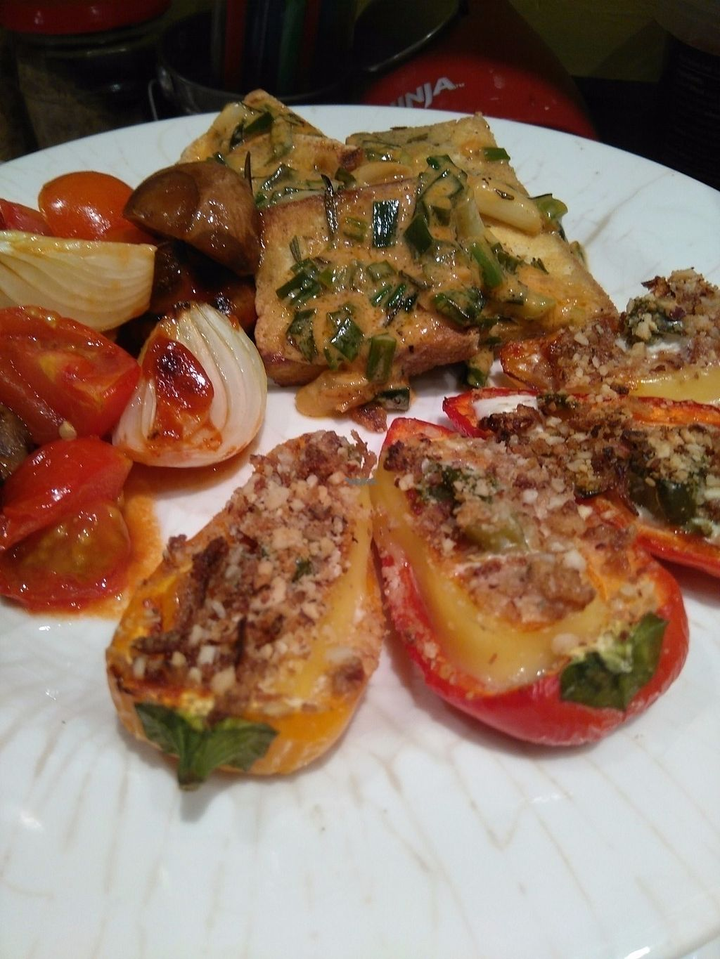 """Photo of Green Revolution  by <a href=""""/members/profile/HannaGarcez"""">HannaGarcez</a> <br/>Baked Jalapeño poppers buttery tofu steaks  <br/> August 27, 2016  - <a href='/contact/abuse/image/40809/171823'>Report</a>"""