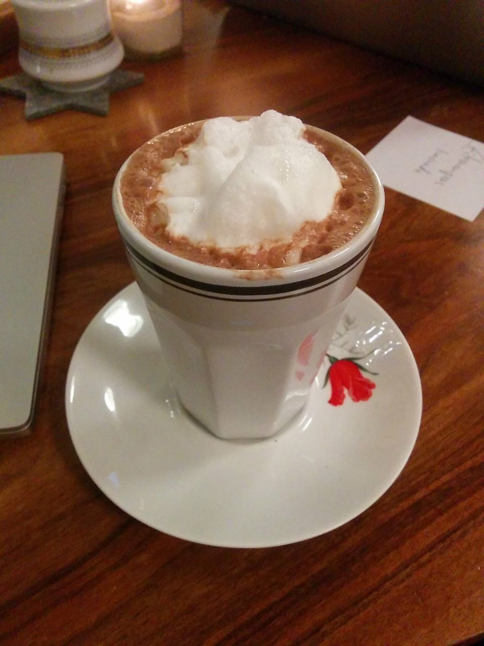 "Photo of V-Cake Cafe  by <a href=""/members/profile/FlokiTheCat"">FlokiTheCat</a> <br/>Hot chocolate <br/> December 11, 2017  - <a href='/contact/abuse/image/40824/334764'>Report</a>"