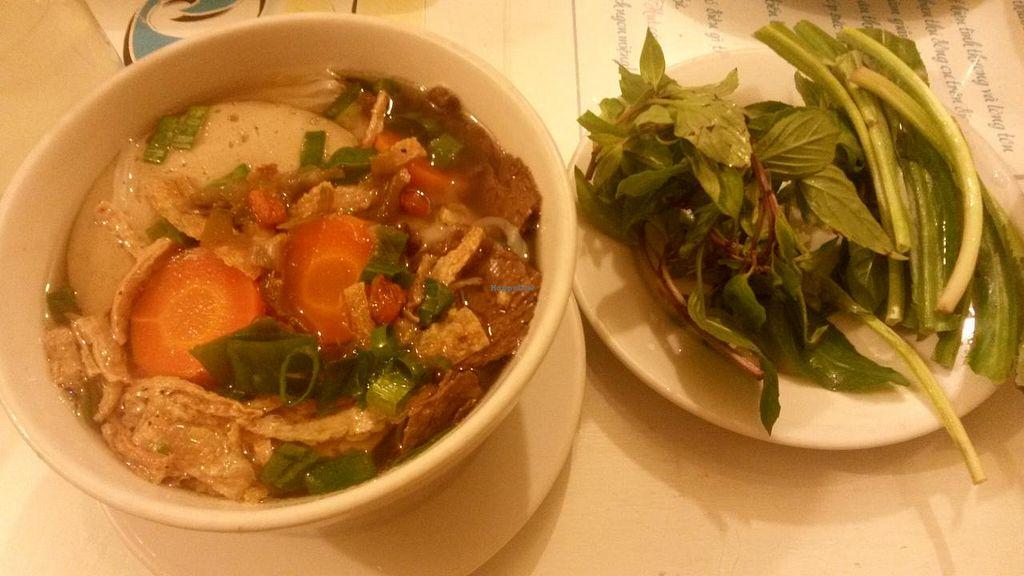 """Photo of Thuan Chay - Vegan  by <a href=""""/members/profile/VeganJazzman"""">VeganJazzman</a> <br/>vietnamese noodle soup <br/> March 2, 2014  - <a href='/contact/abuse/image/40838/65079'>Report</a>"""