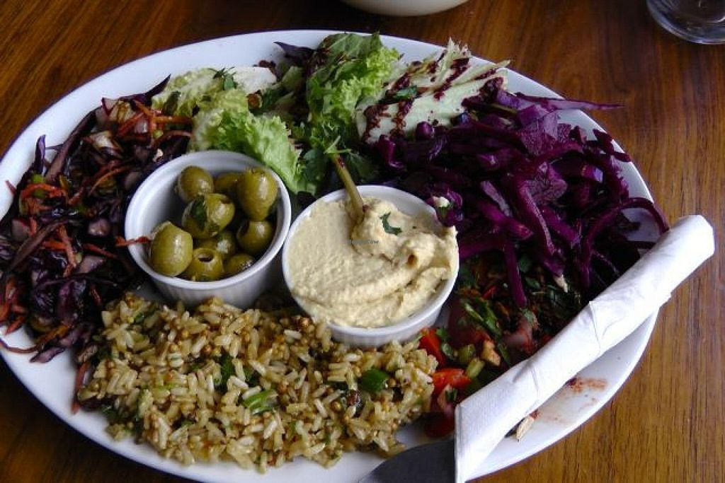 """Photo of CLOSED: Roll for the Soul  by <a href=""""/members/profile/trinitybourne"""">trinitybourne</a> <br/>Salad plate was delicious and varied <br/> July 3, 2015  - <a href='/contact/abuse/image/40890/108026'>Report</a>"""