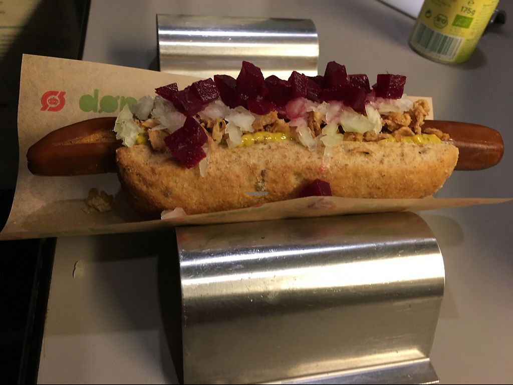 """Photo of Den Okologiske Polsemand - Food Stall  by <a href=""""/members/profile/lerussell"""">lerussell</a> <br/>veggie dog <br/> January 28, 2017  - <a href='/contact/abuse/image/40892/218615'>Report</a>"""