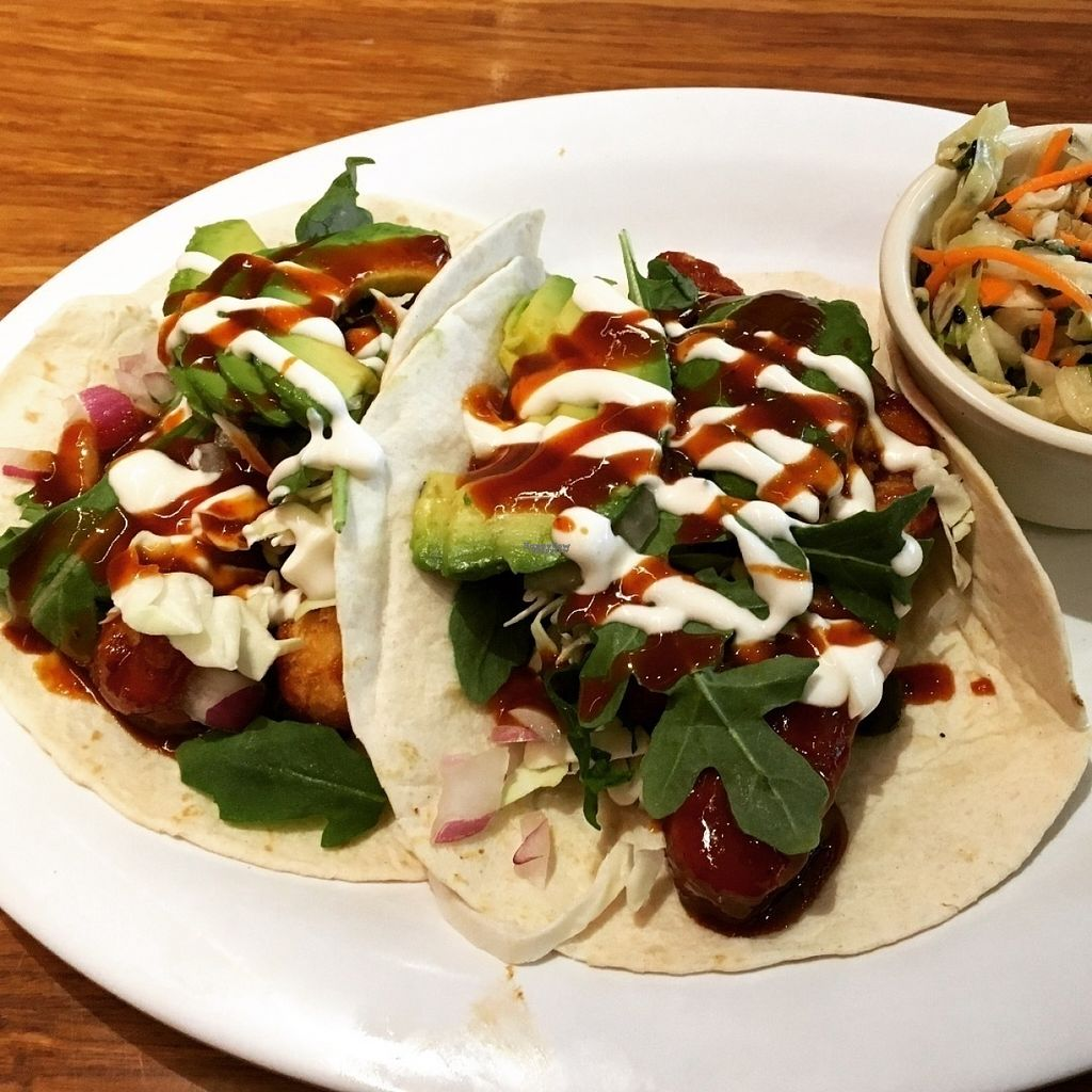 """Photo of Veggie Grill  by <a href=""""/members/profile/Tigra220"""">Tigra220</a> <br/>Koreatown Tacos <br/> August 7, 2016  - <a href='/contact/abuse/image/40894/166578'>Report</a>"""