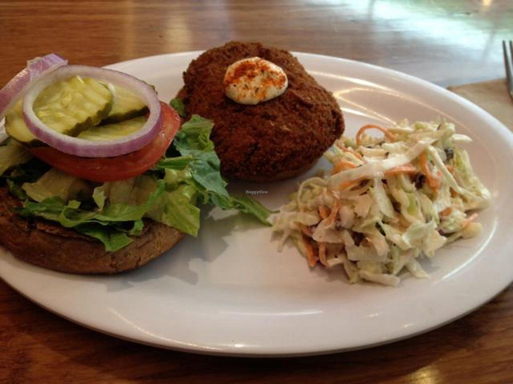 """Photo of Veggie Grill  by <a href=""""/members/profile/nardanddee"""">nardanddee</a> <br/>crab cake <br/> April 4, 2014  - <a href='/contact/abuse/image/40894/67035'>Report</a>"""