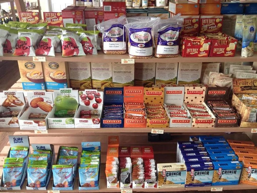 """Photo of CLOSED: Real Food Market  by <a href=""""/members/profile/slushman"""">slushman</a> <br/>A sample of their dry goods and snacks <br/> January 5, 2015  - <a href='/contact/abuse/image/40906/89565'>Report</a>"""