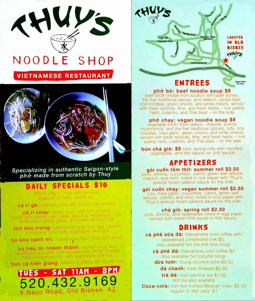 """Photo of Thuy's Noodle Shop  by <a href=""""/members/profile/amarello"""">amarello</a> <br/>Menu <br/> February 8, 2014  - <a href='/contact/abuse/image/40909/63933'>Report</a>"""