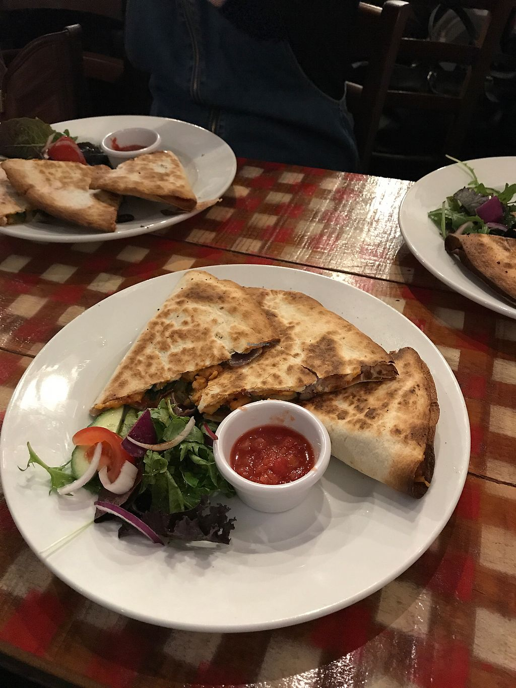 """Photo of Fat Freddy's  by <a href=""""/members/profile/AlannaghMasterson"""">AlannaghMasterson</a> <br/>vegan quesadilla- MASSIVE portions, really nice!  <br/> August 16, 2017  - <a href='/contact/abuse/image/40910/293260'>Report</a>"""