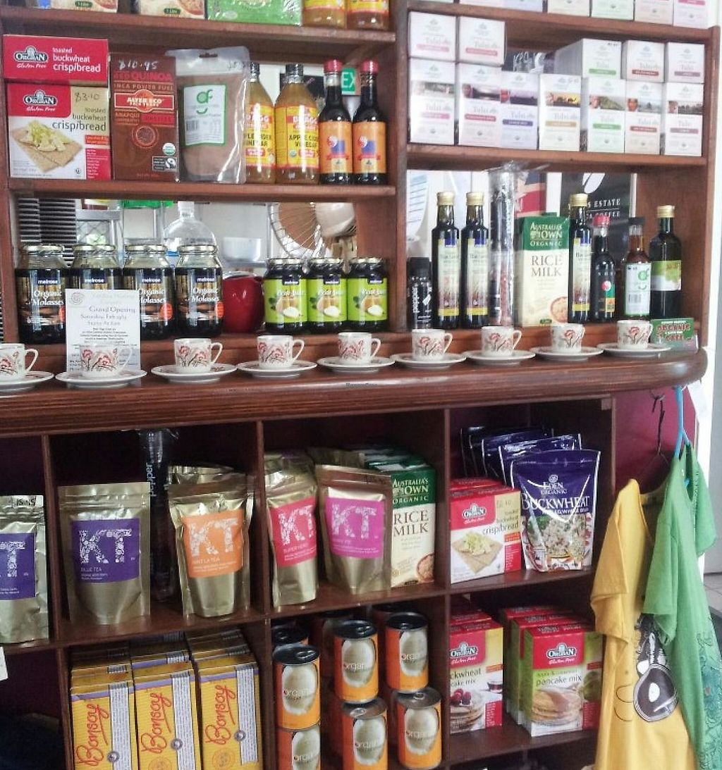 """Photo of Goodness Gracious Organic and Gluten Free Cafe  by <a href=""""/members/profile/vegan%20louise"""">vegan louise</a> <br/>Groceries for sale <br/> July 16, 2014  - <a href='/contact/abuse/image/40933/254698'>Report</a>"""