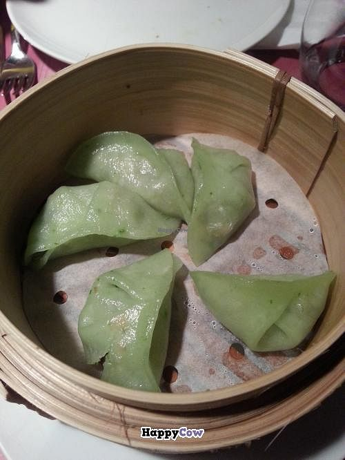 "Photo of Out of China  by <a href=""/members/profile/Harp"">Harp</a> <br/>Steamed dumplings with vegetables and mushrooms <br/> September 5, 2013  - <a href='/contact/abuse/image/40938/54410'>Report</a>"