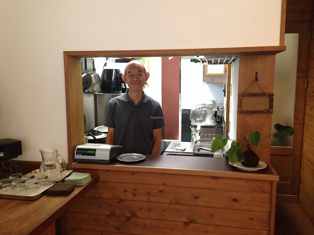 "Photo of Veggie Cafe  by <a href=""/members/profile/jeedeecee"">jeedeecee</a> <br/>Ken, the owner, is super nice and his English is excellent.  <br/> August 29, 2015  - <a href='/contact/abuse/image/40954/115602'>Report</a>"