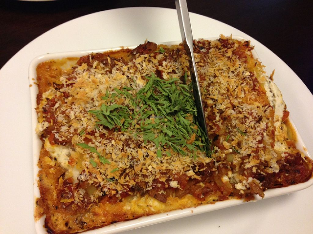 "Photo of Veggie Cafe  by <a href=""/members/profile/lemurcat"">lemurcat</a> <br/>lasagna!! <br/> May 12, 2016  - <a href='/contact/abuse/image/40954/148611'>Report</a>"