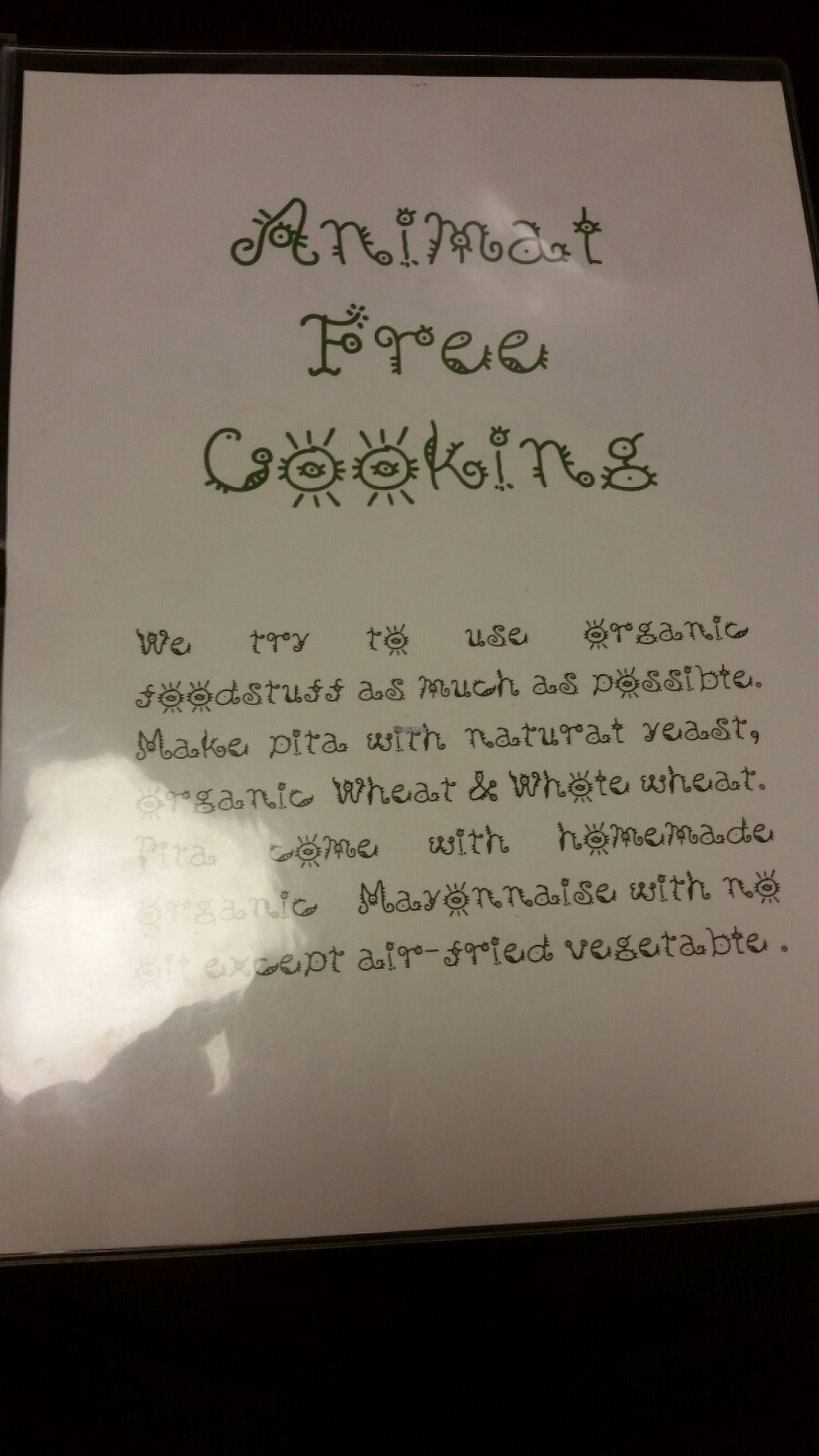 "Photo of Veggie Cafe  by <a href=""/members/profile/Veganaut"">Veganaut</a> <br/>the menu (cover) <br/> November 25, 2016  - <a href='/contact/abuse/image/40954/194108'>Report</a>"
