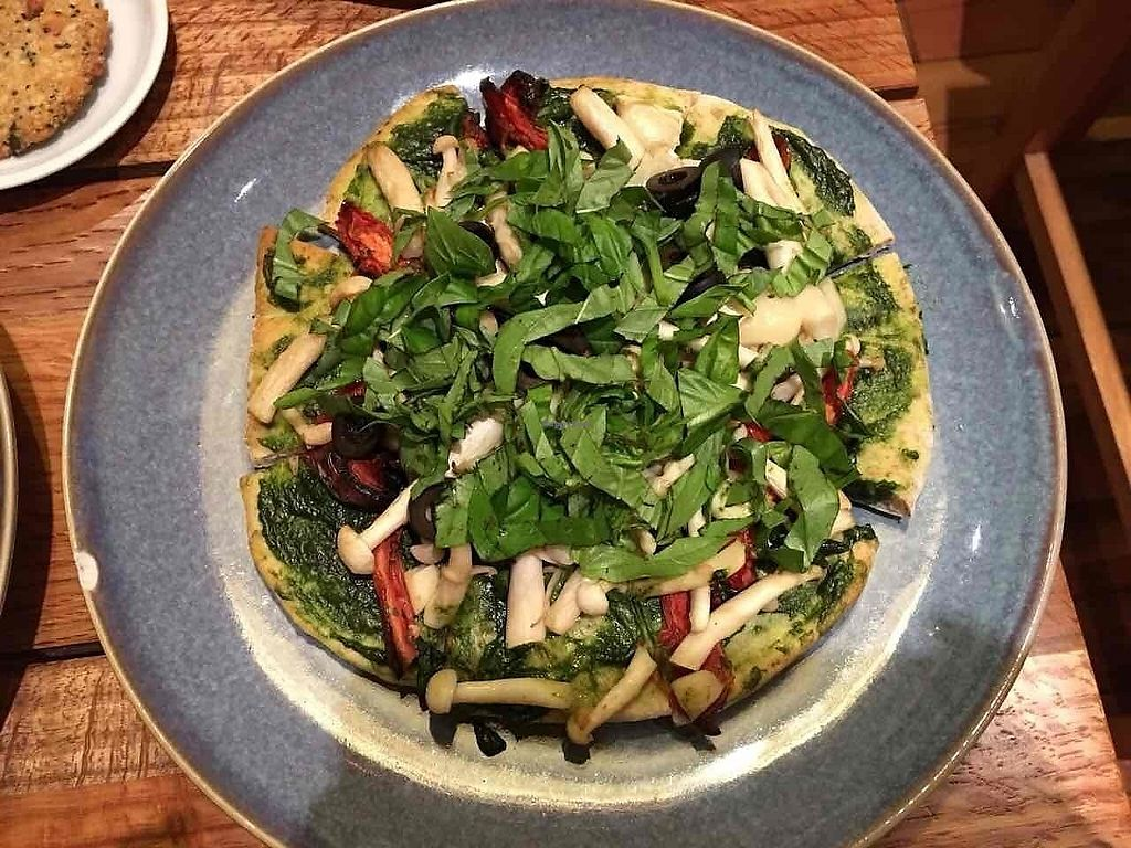 "Photo of Zenith Yoga Cafe  by <a href=""/members/profile/Trambau"">Trambau</a> <br/>Pesto pizza with mushroom, dried tomato and olive <br/> January 19, 2018  - <a href='/contact/abuse/image/41001/348265'>Report</a>"
