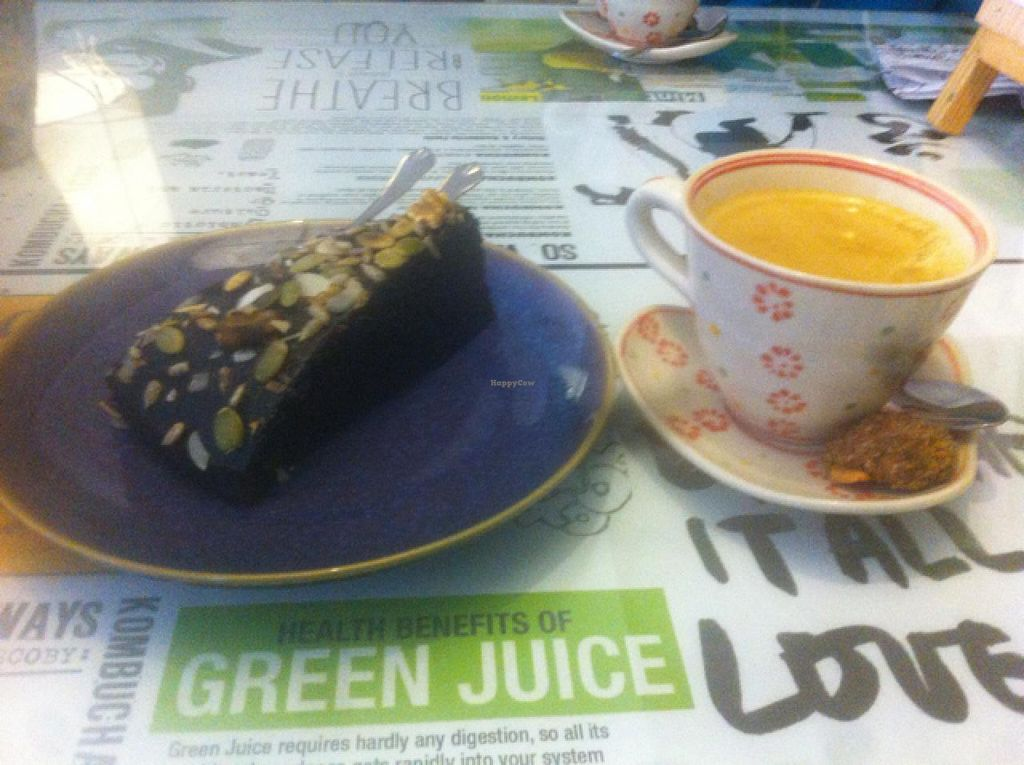 "Photo of Zenith Yoga Cafe  by <a href=""/members/profile/Hellavegan"">Hellavegan</a> <br/>vegan dark chocolate cake <br/> March 14, 2014  - <a href='/contact/abuse/image/41001/65862'>Report</a>"