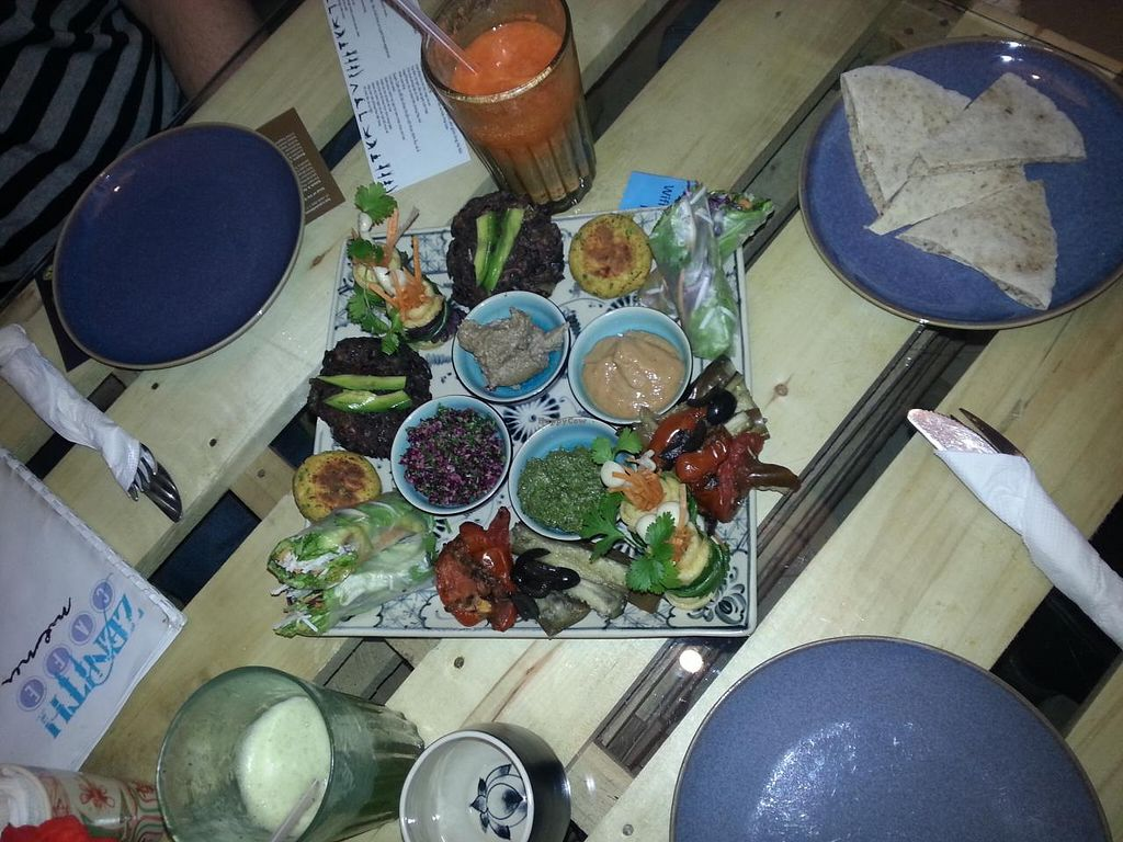 "Photo of Zenith Yoga Cafe  by <a href=""/members/profile/Miggi"">Miggi</a> <br/>Vegan tasting platter for two <br/> January 4, 2015  - <a href='/contact/abuse/image/41001/89447'>Report</a>"