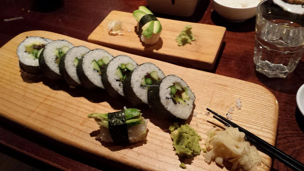 "Photo of Yamamori Noodles  by <a href=""/members/profile/steele"">steele</a> <br/>HUGE veg roll and one remaining avo roll <br/> July 23, 2015  - <a href='/contact/abuse/image/41022/110588'>Report</a>"