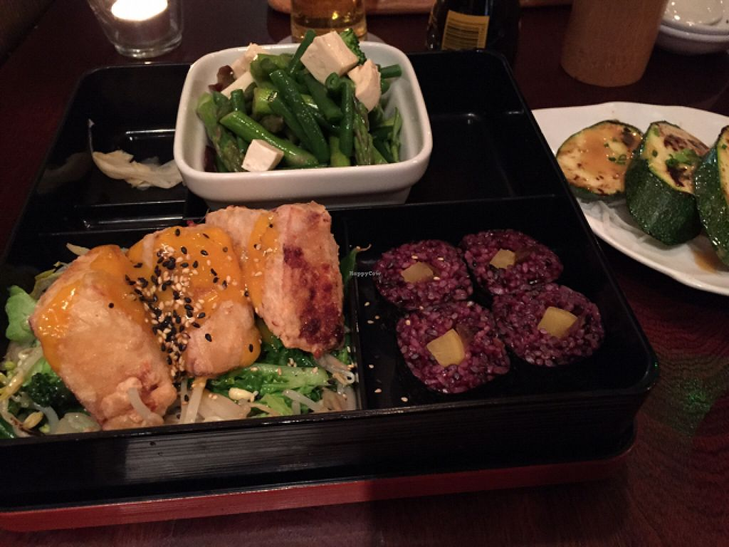 "Photo of Yamamori Noodles  by <a href=""/members/profile/psysof"">psysof</a> <br/>Vegan sushi bento  <br/> August 10, 2015  - <a href='/contact/abuse/image/41022/113017'>Report</a>"