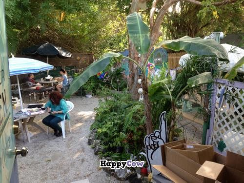 """Photo of Good Food Conspiracy  by <a href=""""/members/profile/happycowgirl"""">happycowgirl</a> <br/>outdoor seating area in back <br/> December 23, 2013  - <a href='/contact/abuse/image/41049/60814'>Report</a>"""