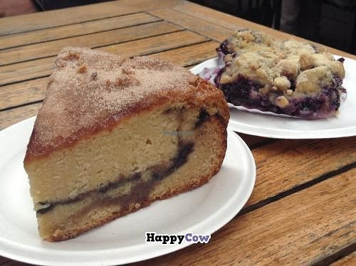 "Photo of Bread and Roses Bakery  by <a href=""/members/profile/Julie%20R"">Julie R</a> <br/>Blueberry pound cake (OH YUM), and blueberry coffee square (equally delicious) <br/> December 19, 2013  - <a href='/contact/abuse/image/41060/60548'>Report</a>"