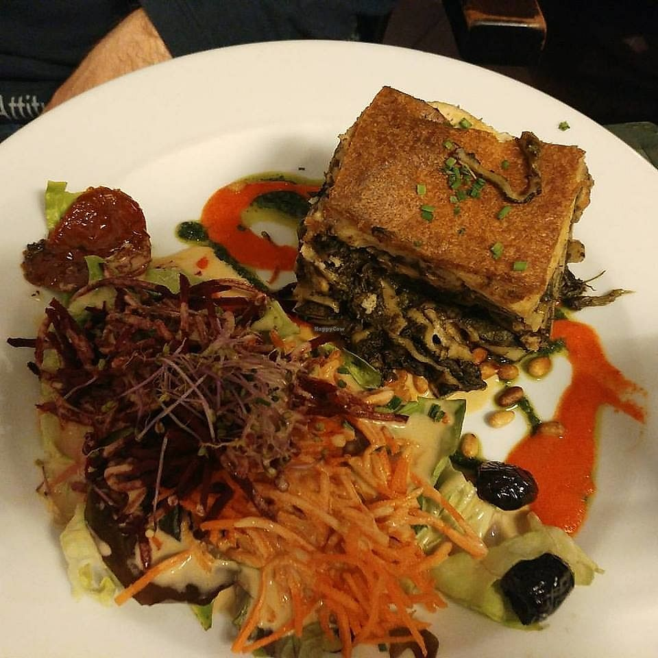 """Photo of Le Potager du Marais  by <a href=""""/members/profile/SaraMarkic"""">SaraMarkic</a> <br/>spinach walnut lasagna with vegan cheese <br/> December 5, 2017  - <a href='/contact/abuse/image/4106/332581'>Report</a>"""