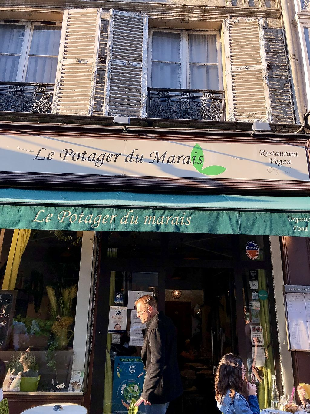 """Photo of Le Potager du Marais  by <a href=""""/members/profile/vegbenzboy"""">vegbenzboy</a> <br/>Front of restaurant  <br/> May 20, 2018  - <a href='/contact/abuse/image/4106/402678'>Report</a>"""