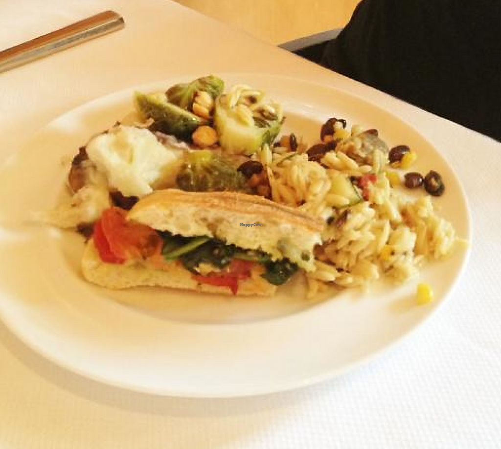 """Photo of Jill's Restaurant  by <a href=""""/members/profile/JulieV"""">JulieV</a> <br/>A loaded plate of vegan yumminess <br/> August 31, 2013  - <a href='/contact/abuse/image/41070/190817'>Report</a>"""