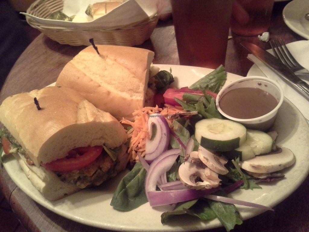 """Photo of Cafe Con Leche  by <a href=""""/members/profile/cinsaint"""">cinsaint</a> <br/>Vegano Crab Cake Sandwich <br/> September 6, 2015  - <a href='/contact/abuse/image/41080/116607'>Report</a>"""