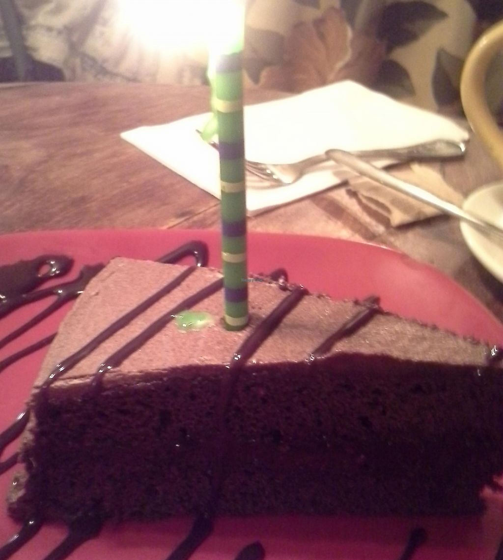 """Photo of Cafe Con Leche  by <a href=""""/members/profile/cinsaint"""">cinsaint</a> <br/>vegan chocolate cake <br/> September 6, 2015  - <a href='/contact/abuse/image/41080/208583'>Report</a>"""