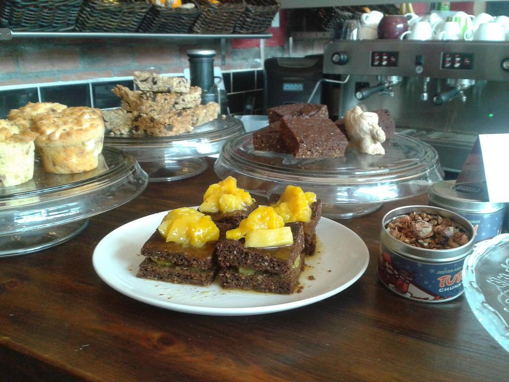 """Photo of Kava  by <a href=""""/members/profile/KavaKafe"""">KavaKafe</a> <br/>Mango & Parkin cake <br/> April 20, 2014  - <a href='/contact/abuse/image/41090/68043'>Report</a>"""