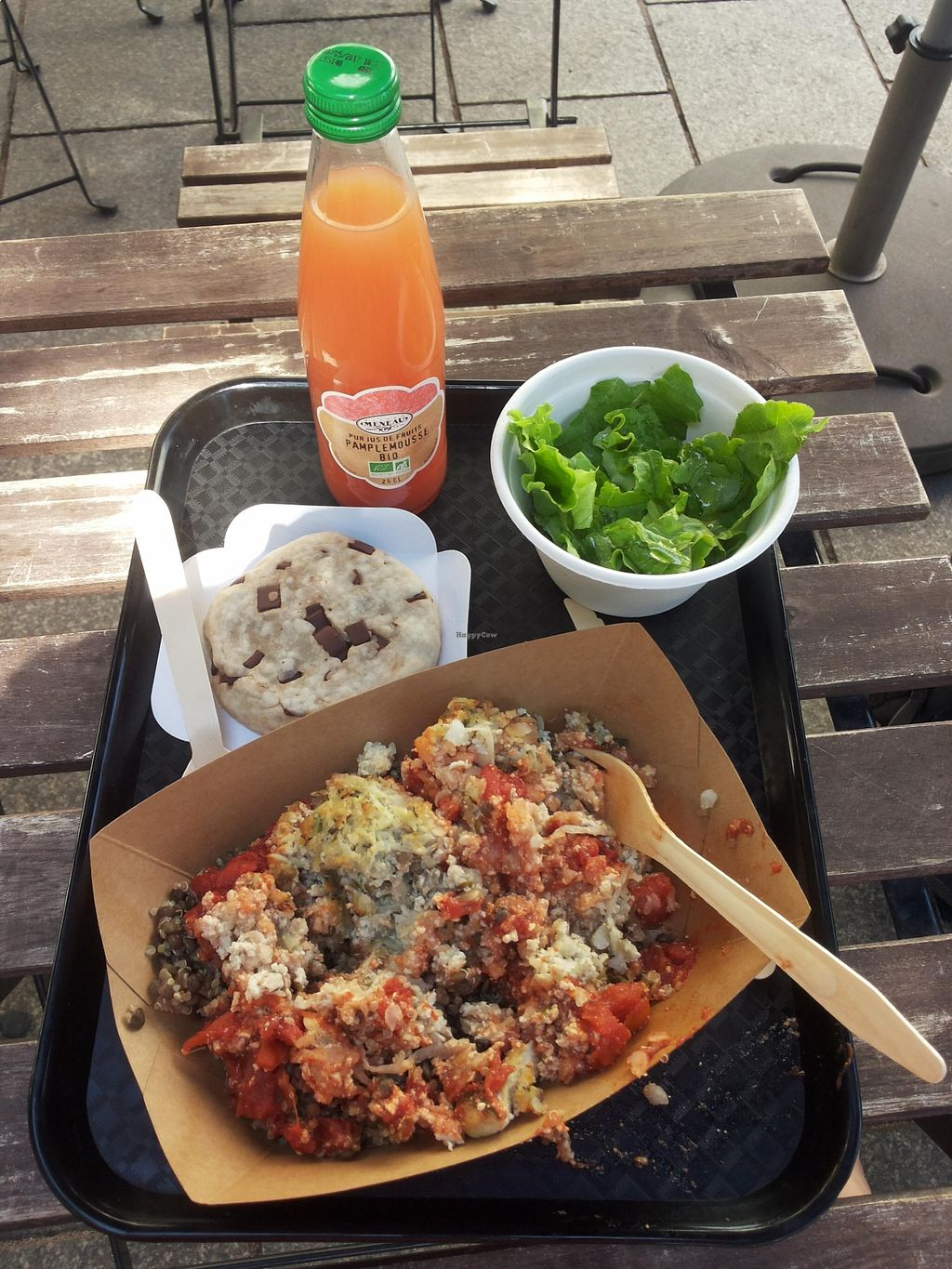 """Photo of Green Bear Coffee - La Canebiere  by <a href=""""/members/profile/Anna-Lin"""">Anna-Lin</a> <br/>Tofu balls with lentil-quinoa, green salad and cookie <br/> August 22, 2015  - <a href='/contact/abuse/image/41101/114707'>Report</a>"""