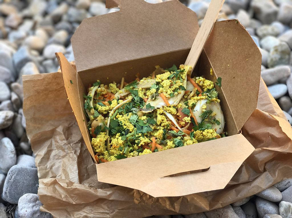 """Photo of Green Bear Coffee - La Canebiere  by <a href=""""/members/profile/Shan-Shan"""">Shan-Shan</a> <br/>Takeaway bulger and curried tofu salad <br/> April 8, 2017  - <a href='/contact/abuse/image/41101/245908'>Report</a>"""