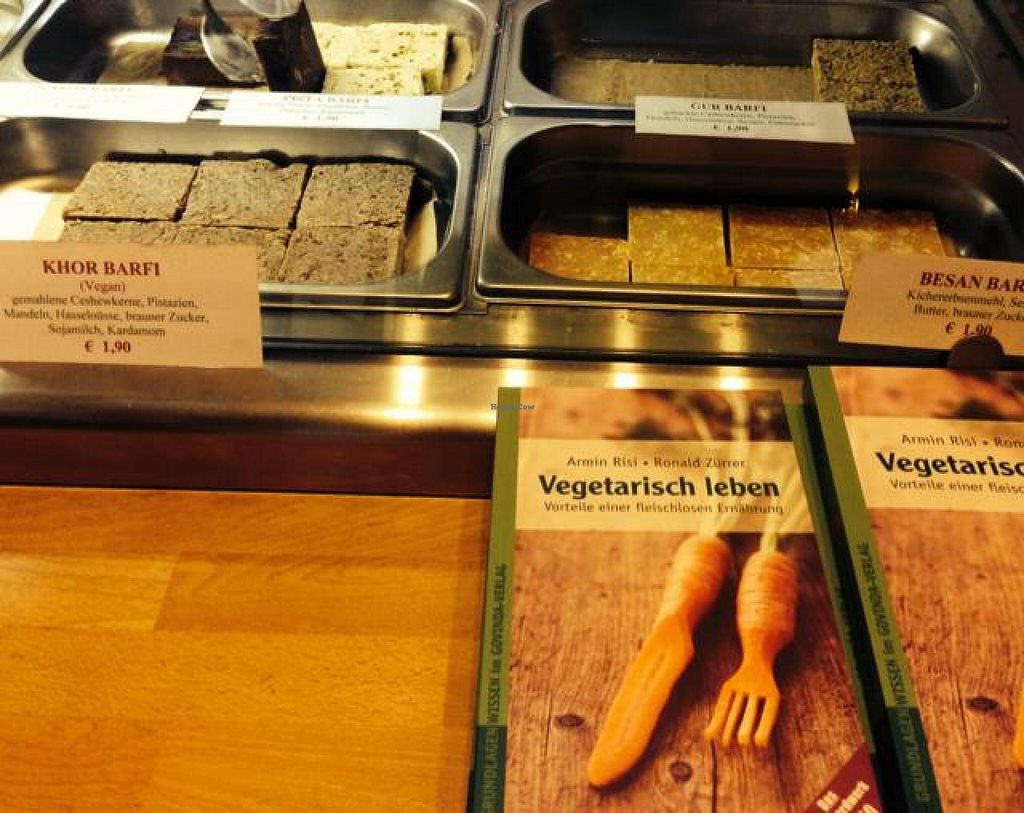 """Photo of Govardhan  by <a href=""""/members/profile/TGIV"""">TGIV</a> <br/>sweets at the counter & books for sale <br/> June 16, 2014  - <a href='/contact/abuse/image/4111/72108'>Report</a>"""
