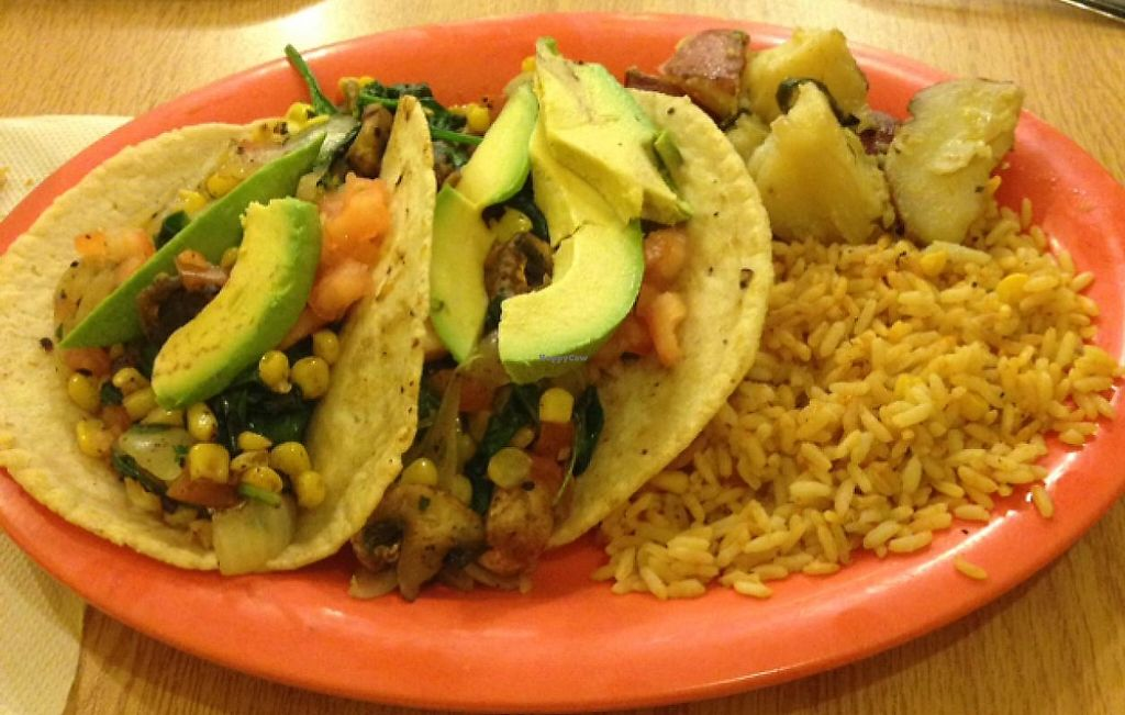 "Photo of CLOSED: Zuzu Fresh-Made Tex-Mex  by <a href=""/members/profile/Yolochka"">Yolochka</a> <br/>veggie tacos  <br/> January 17, 2015  - <a href='/contact/abuse/image/41155/227542'>Report</a>"