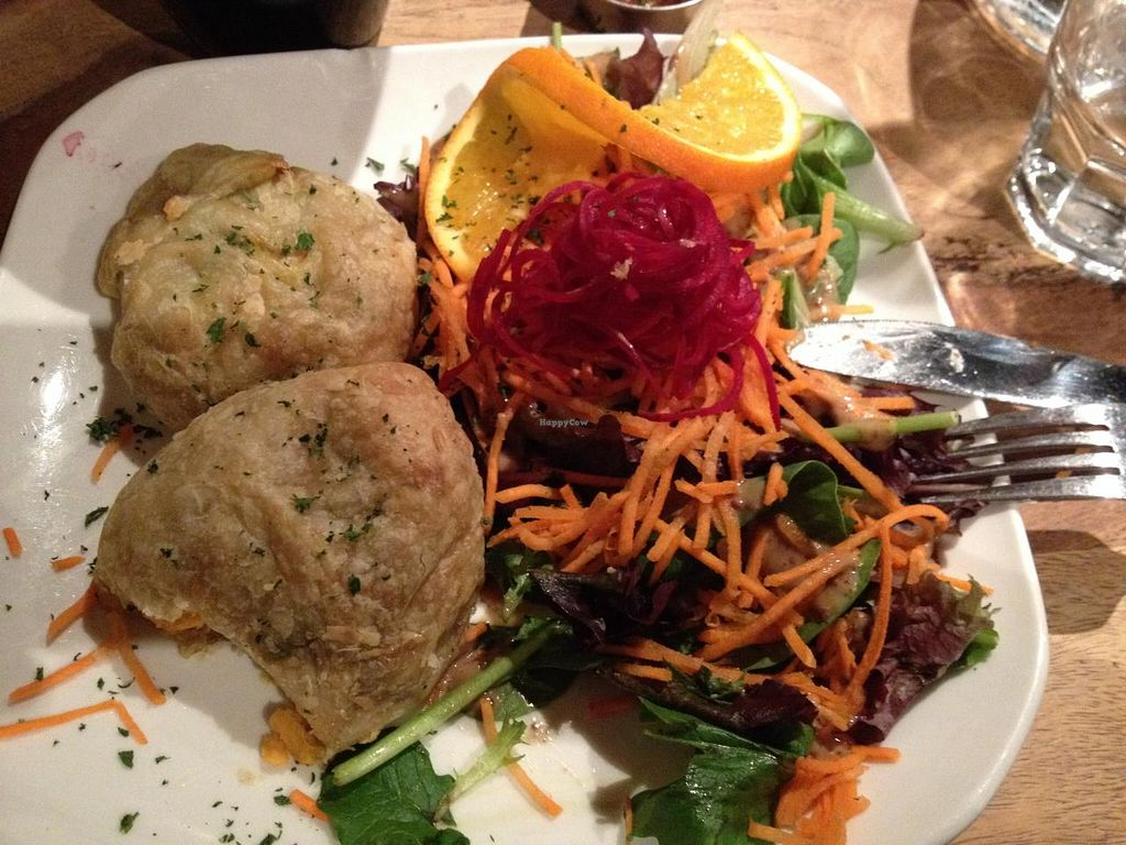 """Photo of Lola Rosa - Milton  by <a href=""""/members/profile/SP"""">SP</a> <br/>samosa appetizer - comes with two samosas and a salad <br/> February 25, 2015  - <a href='/contact/abuse/image/4117/94107'>Report</a>"""