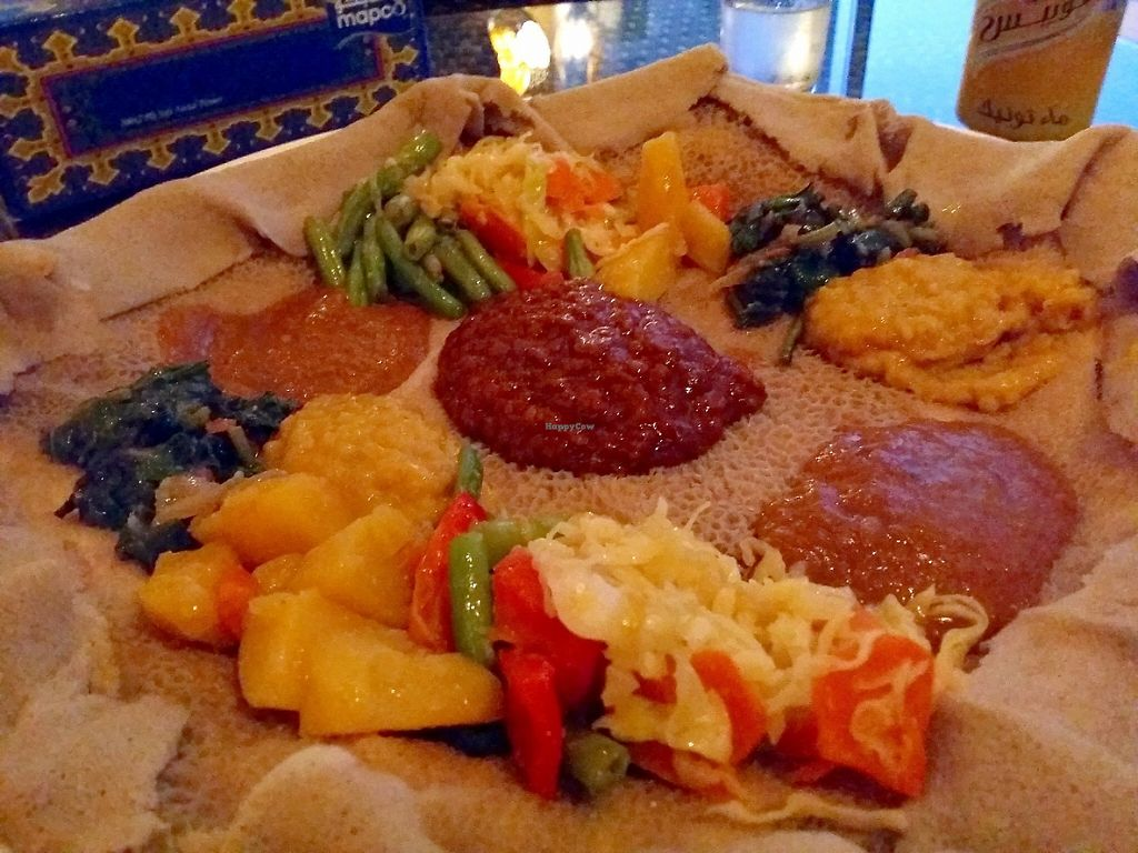 "Photo of Bonna Annee Ethiopian Restaurant  by <a href=""/members/profile/Gudrun"">Gudrun</a> <br/>Vegan injera <br/> May 21, 2017  - <a href='/contact/abuse/image/41191/261068'>Report</a>"