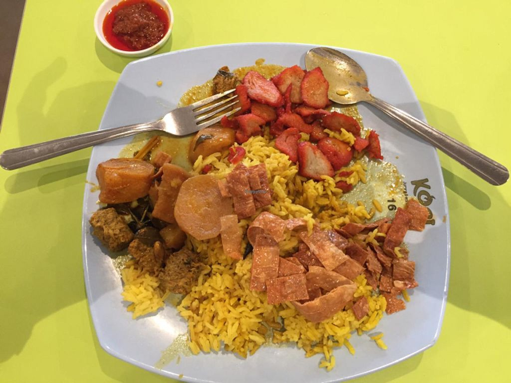 """Photo of Eight Immortals - Jurong East  by <a href=""""/members/profile/vikramshah"""">vikramshah</a> <br/>Nasi Biryani with added mock char siew <br/> January 15, 2015  - <a href='/contact/abuse/image/41240/90400'>Report</a>"""