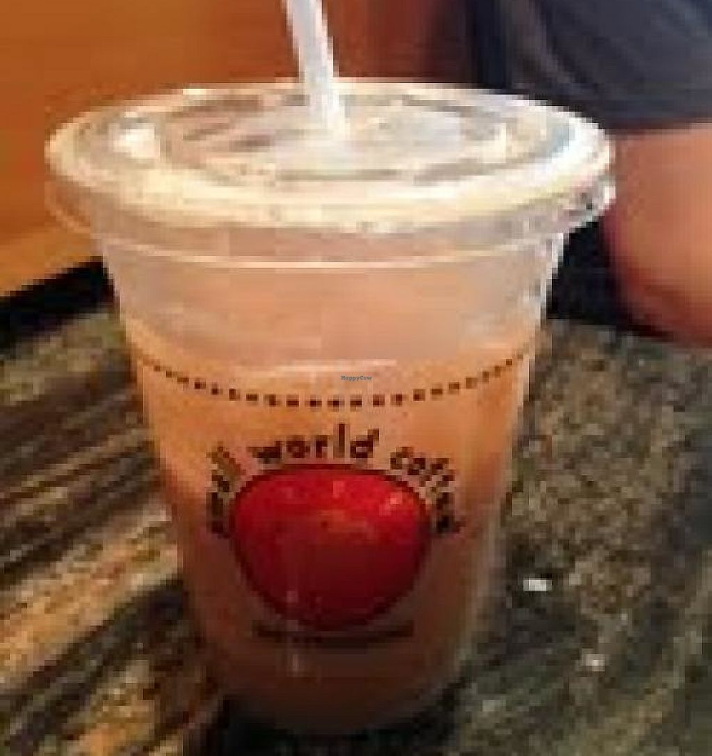 """Photo of Small World Coffee  by <a href=""""/members/profile/Vegparty"""">Vegparty</a> <br/>Iced double tough chai with soy milk to go! <br/> August 30, 2013  - <a href='/contact/abuse/image/41243/208872'>Report</a>"""